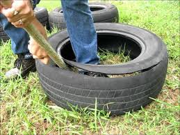 How To Cut A Tire And Make It Into A Garden Pot Wmv Youtube
