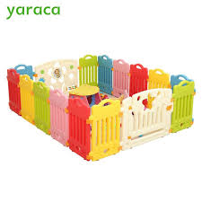 Buy Baby Playpens Fencing For Children Baby Safety Fence Safety Barriers For Child Playpen Play Yard Indoor Plastic Fence Kids From Part And Supply Shop