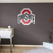 Amazon Com Fathead Ncaa Ohio State Buckeyes Ohio State Buckeyes Logo Giant Officially Licensed Removable Wall Decal Sports Outdoors