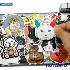 50pcs Cute Pets Kitten Cartoon Cats Style Stickers Toys For Kid Diy Mobile Phone Laptop Luggage Skateboard Case Decals Stickers Stickers Aliexpress