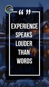 experience speaks louder than words inspirational quote van life
