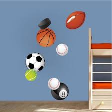 Sports Balls Wall Decal Sports Decor Boys Bedroom Wall Art Balls Removable Wall Stickers S04 In 2020 Sports Wall Decals Boys Bedroom Wall Art Kids Room Wall Decals