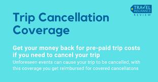 trip cancellation insurance coverage