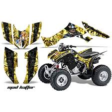 Amazon Com Amr Racing Atv Graphics Kit Sticker Decal Compatible With Honda 300 Trx Ex 2007 2012 Mad Hatter Black Yellow Automotive