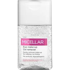 micellar gel eye makeup remover