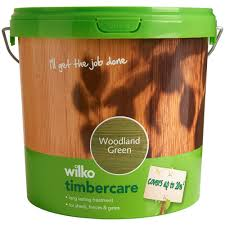 Wilko Timbercare Woodland Green Exterior Wood Paint 5l Wilko