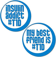 Amazon Com Bricals Vinyl Decals Type 1 Diabetes T1d Best Friends Diabetic Car Truck Window Decal Stickers 2 Pack 3 5 Diameter Made In Usa Clothing