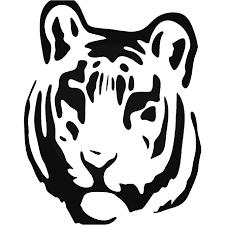 Tribal Tiger Animal Zoo 2 Vinyl Decal Sticker
