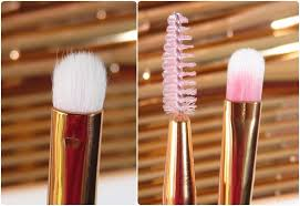 rose gold makeup brush set from amazon