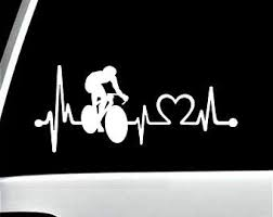 Cycling Car Decal Etsy