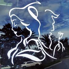 New Decal For Car Windshield Or Lap Top Beauty And The Beast Decal In Multiple Sizes And Color Disney Car Stickers Beauty And The Beast Disney Car Accessories