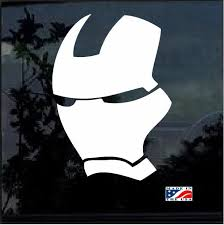 Iron Man Mask Window Decal Sticker Iron Man Mask Window Decals Iron Man