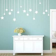 Yjydada Pendant Stars Decal Living Room Bedroom Vinyl Carving Wall Decal Sticker White Amazon Com