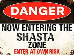 Amazon Com Shasta Danger You Are Entering Zone Rustic Vintage Look 6 Wide Decal Bumper Sticker For Use On Any Smooth Surface Home Kitchen