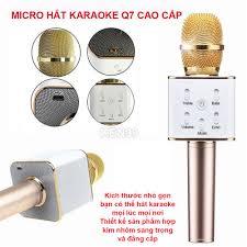 Tai Nhac Karaoke, Micro Karaoke Cầm Tay Kiêm Loa Bluetooth Kn10399 Q7,  Micro Hát Karaoke Mini Cho Điện Thoại ( Chất Lượng Cực Tốt ) Giá Sốc, Giảm  Đến 50 % Chỉ