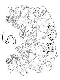 Kleurplaat Prinsessen Verjaardag Prinsessen Verjaardag 5