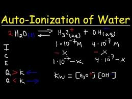 water ion constant kw