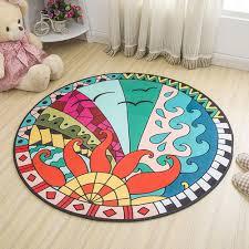 80cm Round Carpet Kids Gym Rug Cute Cartoon Play Games Mat Baby Crawling Blanket Floor Mats Living Room Kids Play Are Textured Carpet Soft Carpet Round Carpets