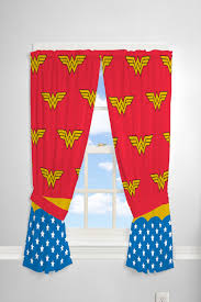 Wonder Woman Kids Bedroom 63 Curtains Flying W 2 Count Walmart Com Walmart Com