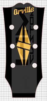 Gibson Orville Custom Headstock Logo Dimond Vinyl Sticker Hmcustom Online Shop