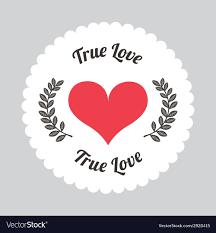 true love royalty free vector image