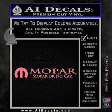Mopar Or No Car Decal Sticker A1 Decals