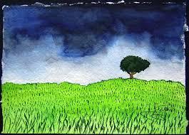 Arbol con cielo incierto Painting by JOSE SMITH   Saatchi Art