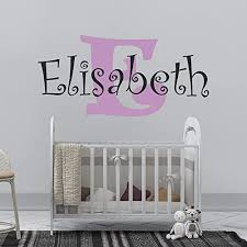 Amazon Com Girl S Custom Name And Initial Wall Decal Choose Your Own Name Initial And Letter Styles Multiple Sizes Wall Decor Wall Decal Girl S Custom Name And Initial Wall Decal Sticker Girl S Name