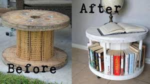 diy cable spool coffee table