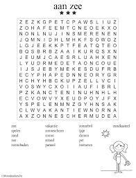 Kern 12 Vakantie Aan Zee Moeilijk Woordpuzzels Schoolweek