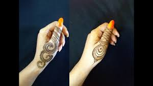 simple mehndi design 2019 fingers only