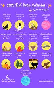 Free Printable 2020 Full Moon Calendar ...