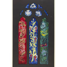 design for a stained glass window at st