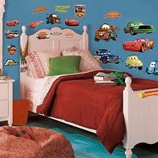 Movie Cars Wall Stickers Lightning Mcqueen Kids Room Decor Decals Child Boys Art For Sale Online Ebay
