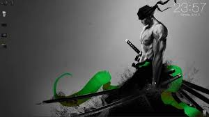 zoro with sword particles black and