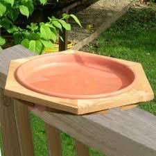 Mini Cedar Deck Mount Bird Bath Cedar Deck Bird Bath Cedar