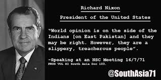 "South Asia 71 on Twitter: """"A slippery, treacherous people""- Nixon ..."