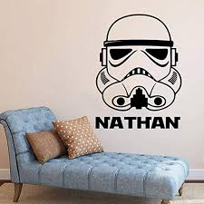 Amazon Com Custom Name Star Wars Wall Decal Storm Trooper Decal Personalized Name Star Wars Storm Trooper Wall Sticker Vinyl Art Decor Movie Fan Boy Made In Usa Kitchen Dining