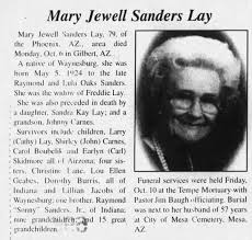 Obituary for Mary Jewell Sanders Sanders (Aged 79) - Newspapers.com