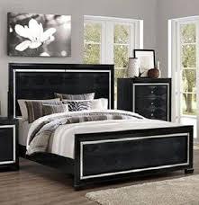 aria modern black finish solid wood