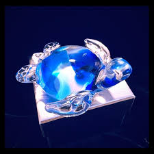 glass sea turtle paperweight