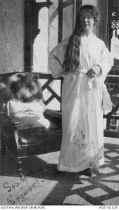 MENA, EGYPT. 1915. SISTER ADA SMITH, A MEMBER OF THE NURSING STAFF ...