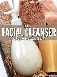 homemade face wash made from natural