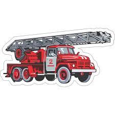 6in X 3in Firetruck Sticker Vinyl Emergency Vehicle Decal Bumper Stickers Walmart Com Walmart Com