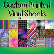 Custom Printed Vinyl Sheets Available In Adhesive Or Heat Transfer Smashing Ink
