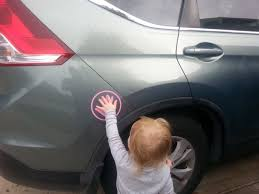 Child Safety Spot Many Color Options Kids Hand Car Decal Etsy