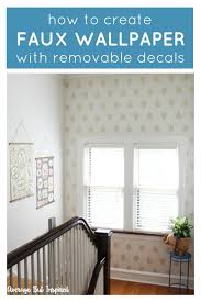 wall decals for a faux wallpaper