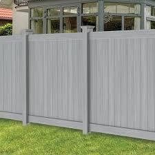 Freedom Actual 5 83 Ft X 5 56 Ft Hampton Woodgrain Gray Vinyl Flat Top Vinyl Fence Panel Lowes Com Vinyl Fence Panels Vinyl Privacy Fence Vinyl Fence