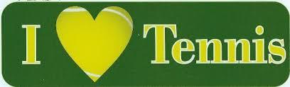 10in X 3in I Love Heart Tennis Bumper Stickers Window Decal Sticker Car Decals Stickertalk