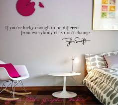 Taylor Swift Wall Decal Taylor Swift Wall Quote Girls Room Wall Decal 25 00 Via Etsy Wall Quotes Girls Room Tween Room Room Ideas Bedroom